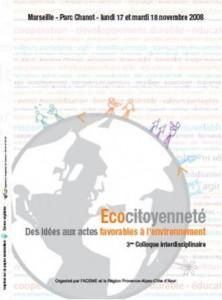 Colloque Ecocitoyenneté - Région PACA-ADEME - Université Aix-en-Provence